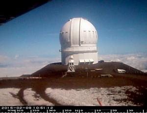 Canada-France-Hawaii Telescope on Mauna Kea at 10:51 a.m. Monday, February 9, 2015.