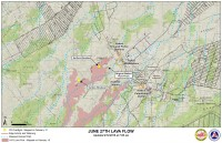 Kilauea June 27 Lava Flow map updated 7 a.m., February 12, 2015. Courtesy of Hawaii County Civil Defense