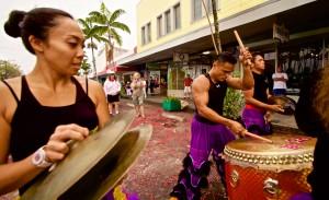 Members of Big Island Shaolin Arts perform in downtown Hilo's Chinese New Year celebration Saturday, February 21, 2015. Photography by Baron Sekiya | Hawaii 24/7