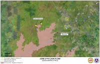 Kilauea June 27 Lava Flow map updated 7 a.m., February 25, 2015. Courtesy of Hawaii County Civil Defense