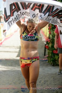Bree Wee, the women's champion of the 2015 Lavaman Triathlon in Waikoloa. Photography by David O. Baldwin | Special to Hawaii 24/7
