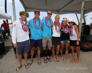 Overall winners of the 2015 Lavaman Triathlon in Waikoloa. Photography by David O. Baldwin   Special to Hawaii 24/7