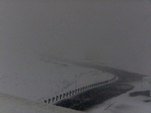 Webcam image on Mauna Kea summit area 4:30 p.m. HST Tuesday, (March 3). Image courtesy of UH-Hilo