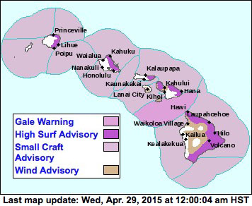 Weather advisory map via National Weather Service/NOAA