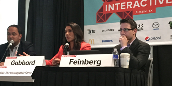 "Gabbard attends 2015 South by Southwest Interactive Festival and joins a bipartisan panel called ""Millennials: The Unstoppable Force"""
