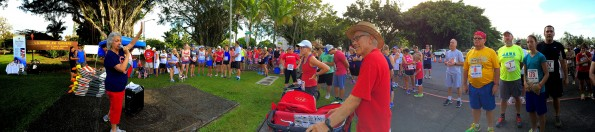 Runners, walkers and volunteers get ready for the start of the 'A Salute to Our Veterans' on July 4, 2014 in Hilo. Hawaii 24/7 File Photo