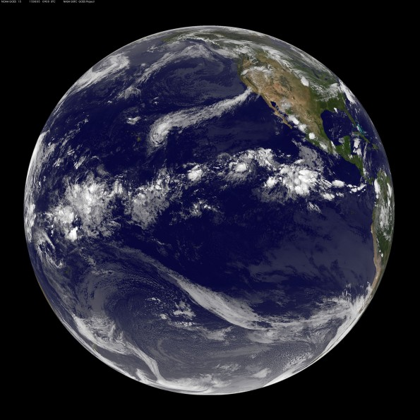 Full earth image taken at 11 p.m. HST Tuesday, August 4, 2015. Photo courtesy of NOAA-NASA GOES Project