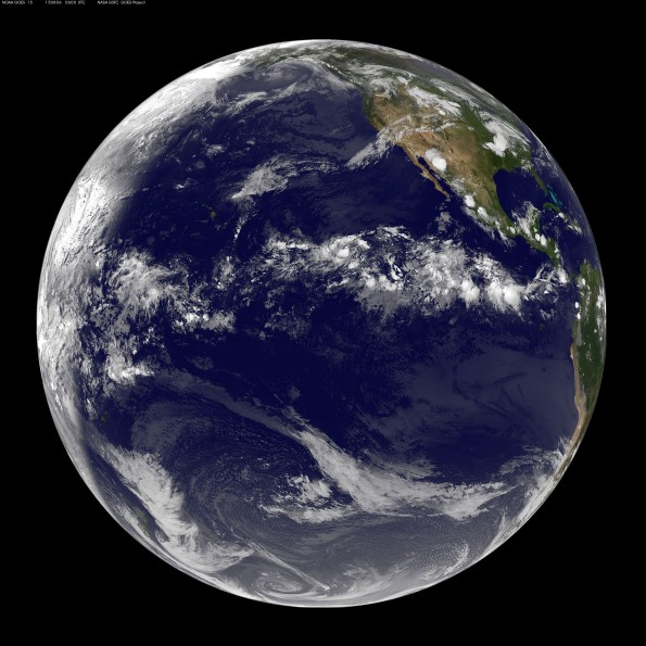 Full earth image taken at 8 p.m. HST Wednesday, August 5, 2015. Photo courtesy of NOAA-NASA GOES Project