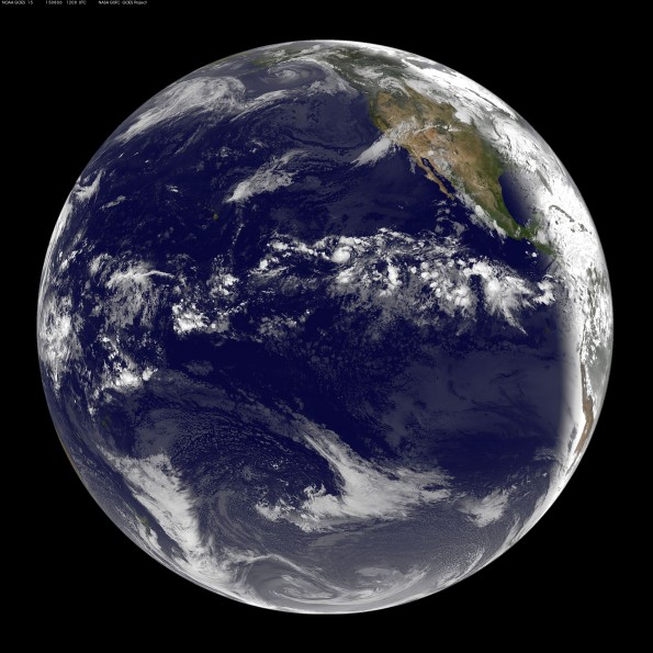 Full earth image taken at 2 a.m. HST Thursday, August 6, 2015. Photo courtesy of NOAA-NASA GOES Project