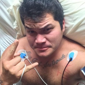 Braxton Rocha recovering in Waimea. Photo via Facebook.