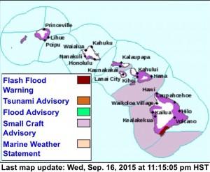 Weather advisory map. Image via National Weather Service