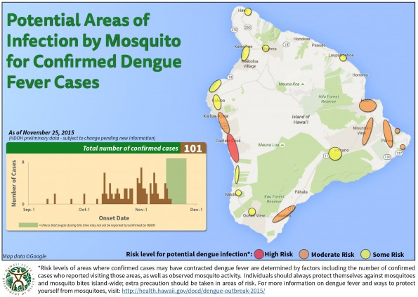 Map released Wednesday (Nov 25) by the Hawaii State Department of Health.