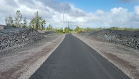 Cemetery Road is cleared of the June 27th lava flow and has been repaved.