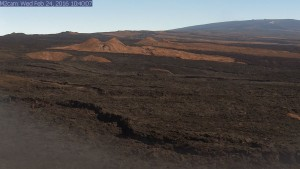 One of the new tools deployed by the USGS Hawaiian Volcano Observatory to better monitor the current unrest on Mauna Loa is a webcam focused on the volcano's Southwest Rift Zone, which has been the site of eruptions in 1903, 1916, 1919, 1926, and 1950. Webcam images of Mauna Loa's summit, Northeast Rift, and Southwest Rift (like the one shown here from the morning of February 24, 2016), can be viewed on HVO's website at http://hvo.wr.usgs.gov/cams/ USGS image.