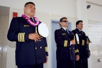 Blessing ceremony during the dedication of the new Hilo International Airport Aircraft Rescue and Firefighting Station Friday, July 29, 2016. Photography by Baron Sekiya | Hawaii 24/7