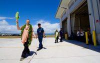 Kahu Kaliko Trapp and Kahu Isaia Kealoha, of St. Joseph Catholic Church, blessing the new Hilo International Airport Aircraft Rescue and Firefighting Station Friday, July 29, 2016. Photography by Baron Sekiya | Hawaii 24/7