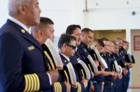 Blessing during the dedication ceremony of the new Hilo International Airport Aircraft Rescue and Firefighting Station Friday, July 29, 2016. Photography by Baron Sekiya | Hawaii 24/7