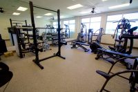 The exercise room at the Hilo International Airport Aircraft Rescue and Firefighting Station. Photography by Baron Sekiya | Hawaii 24/7