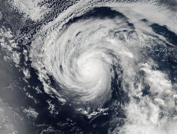 At 12 p.m. Sunday (Aug 28) NASA-NOAA's Suomi NPP satellite captured an image of Hurricane Lester in the Eastern Pacific Ocean. Photo via: NASA Goddard Rapid Response Team