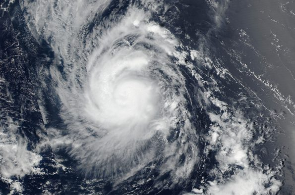 Hurricane Madeline captured at 3 p.m. HST Sunday (Aug 28). NASA-NOAA's Suomi NPP satellite captured an image of Hurricane Madeline in the Central Pacific Ocean. Image courtesy of NASA Goddard Rapid Response Team