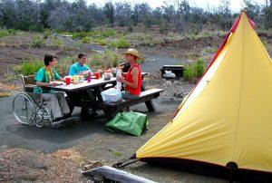 Picnicing at the Kulanaokuaiki Campground. NPS Photo/Jay Robinson