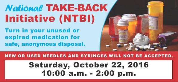 National Take-Back Initiative poster