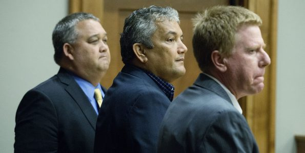 Mayor Billy Kenoi nods to jurors after receiving a not guilty verdict from the jury completing his trial Tuesday (Nov 1) in Hilo's Circuit Court. Photo by Hollyn Johnson/ Hawaii Tribune-Herald