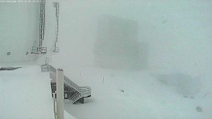 Heavy snowfall on Mauna Kea at the W.M. Keck Observatory. Photos courtesy of W. M. Keck Observatory