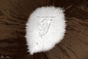 Mauna Loa on December 25, 2016. NASA Earth Observatory images by Jesse Allen, using Landsat data from the U.S. Geological Survey.
