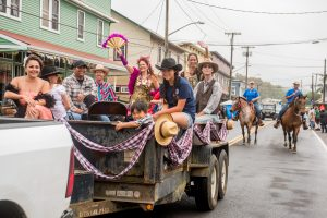 Saloon Girls and Cowboys Got Talent Hopefuls in the paniolo parade. Courtesy photo.