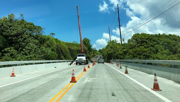 Umauma Bridge work. Hawaii 24/7 File Photo.