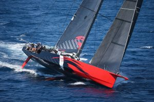 Comanche at the Transpac 2017 start in California. Photo courtesy Sharon Green / Ultimate Sailing