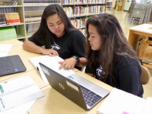 The 17 Honoka'a students who are enrolled in the program will connect with HPU professors using video technology that allows for real-time learning. Photo courtesy of HPU