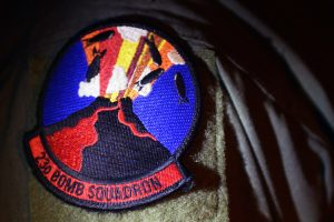 Current emblem of the 23d Bomb Squadron of the United States Air Force commemorates the mission to bomb Mauna Loa. U.S. Air Force photo/Senior Airman Joshua Smoot