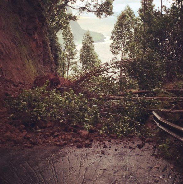 Landslide on Waipio Valley Road. Photo courtesy of Jeff Dale