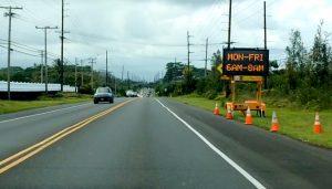 Keeau-Pahoa Road (Highway 130) contraflow trial to begin April 30, 2018. Photography by Baron Sekiya | Hawaii 24/7