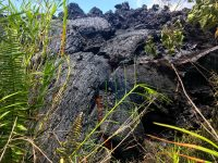 Toothpaste lava oozes out from the stalled northeast lobe of the Fissure 17 flow. Photo taken Tuesday, May 15, 2018 courtesy of U.S. Geological Survey