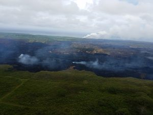 Kilauea eruption Lower East Rift Zone in Puna Saturday, May 26, 2018. Photos courtesy of Hawaii County Civil Defense.