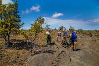 Ranger Wendy leads the Nature and Culture hike. NPS Photo by Janice Wei