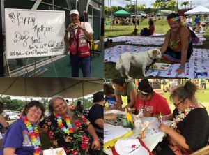Red Cross Mother's Day lunch at the Pahoa Shelter. Photo courtesy of the Red Cross.