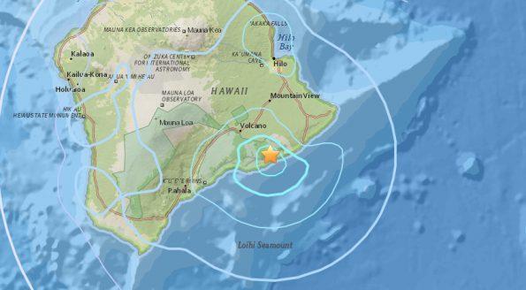 Epicenter of 4.6 magnitude earthquake Tuesday, June 19, 2018.