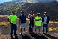 Inspection team at Pu'u Nene Cinder cone. DLNR Photo