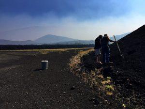 Inspection team at Pu'u Nene Cinder cone. DLNR Photo