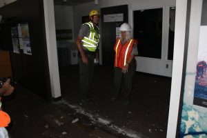 Earthquake damage to Jaggar Museum interior. NPS Photo