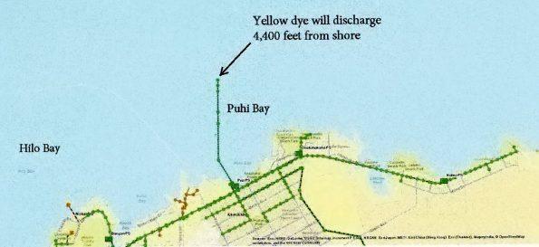 Dye test map