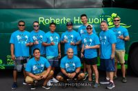 Bus 'A Move Special Olympics West Hawaii 2018 event. 10 person teams compete on pulling a 46k pound Roberts Hawaii Motor Coach Bus the fastest at the Kona Commons Saturday, September 15, 2018. Photo courtesy of David O. Baldwin
