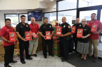 Shoe-box gifts are delivered at Big Island Toyota in Hilo