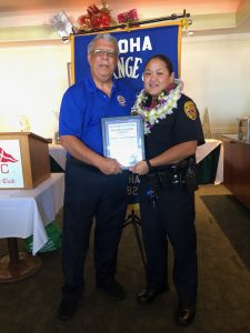 East Hawaii's Officer of the Month of November, Lisa Ebesugaw 2018a (right)