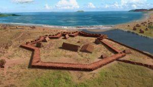 Bird's-eye view of the fortress on Kauai. Photo credit: Alexander Molodin