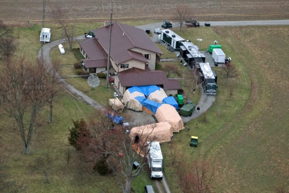 The FBI took possession of 7,000 artifacts from Don Miller's farm in Waldron, Indiana, during a painstaking, six-day recovery operation in 2014. FBI Photo